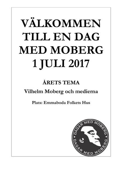 Välkommen till en dag med Moberg 1 juli 2017