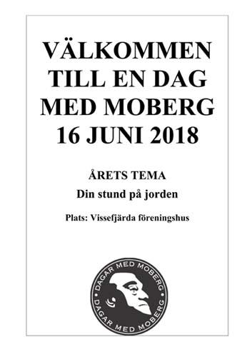 Välkommen till en dag med Moberg 16 juni 2018